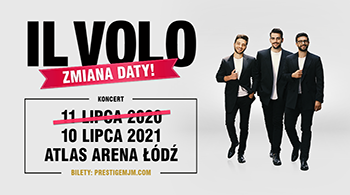 New concert date in Poland: Il Volo will perform in Lodz in 2021!